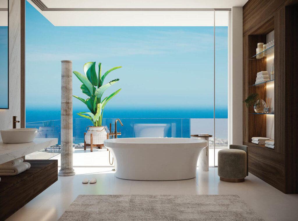 vista lago residences real la quinta nueva andalucia marbella costa del sol spanje villa kopen zeezicht badkamer
