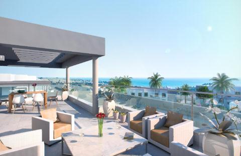 Habitat Valle Romano: penthouses vlakbij zee en golf in Estepona