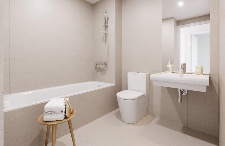 habitat golf valle romano estepona costa del sol spanje zeezicht nieuwbouw appartement penthouse kopen badkamer