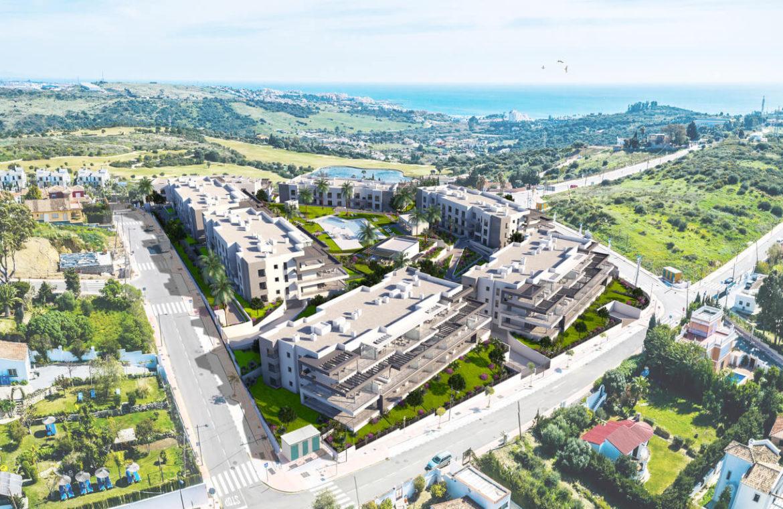 habitat golf valle romano estepona costa del sol spanje zeezicht nieuwbouw appartement penthouse kopen masterplan