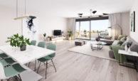 habitat golf valle romano estepona costa del sol spanje zeezicht nieuwbouw appartement penthouse kopen salon