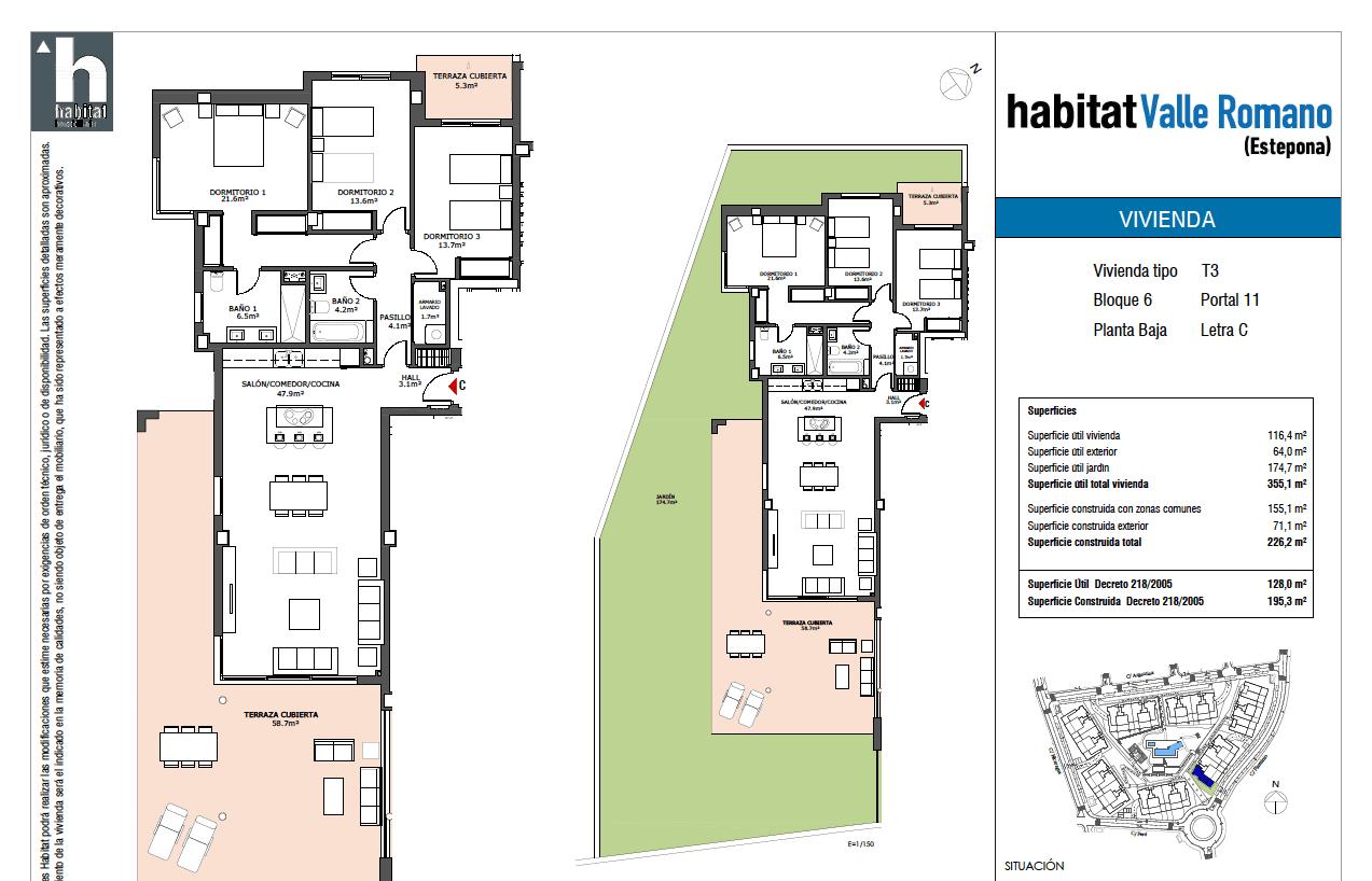 habitat golf valle romano estepona costa del sol spanje zeezicht nieuwbouw appartement penthouse te koop plan