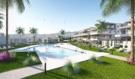 habitat golf valle romano estepona costa del sol spanje zeezicht nieuwbouw appartement penthouse te koop tuin