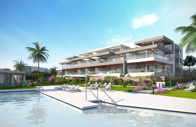 habitat golf valle romano estepona costa del sol spanje zeezicht nieuwbouw appartement penthouse te koop zwembad