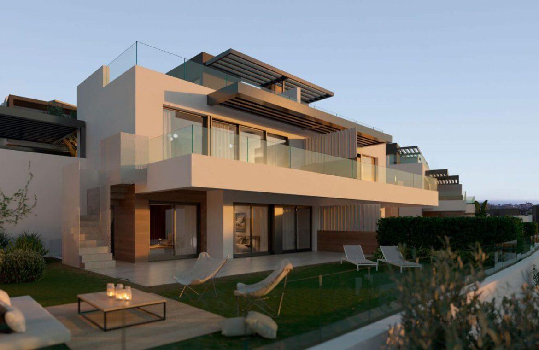 serene atalaya golf estepona costa del sol huis kopen nieuwbouw zeezicht wandelafstand modern