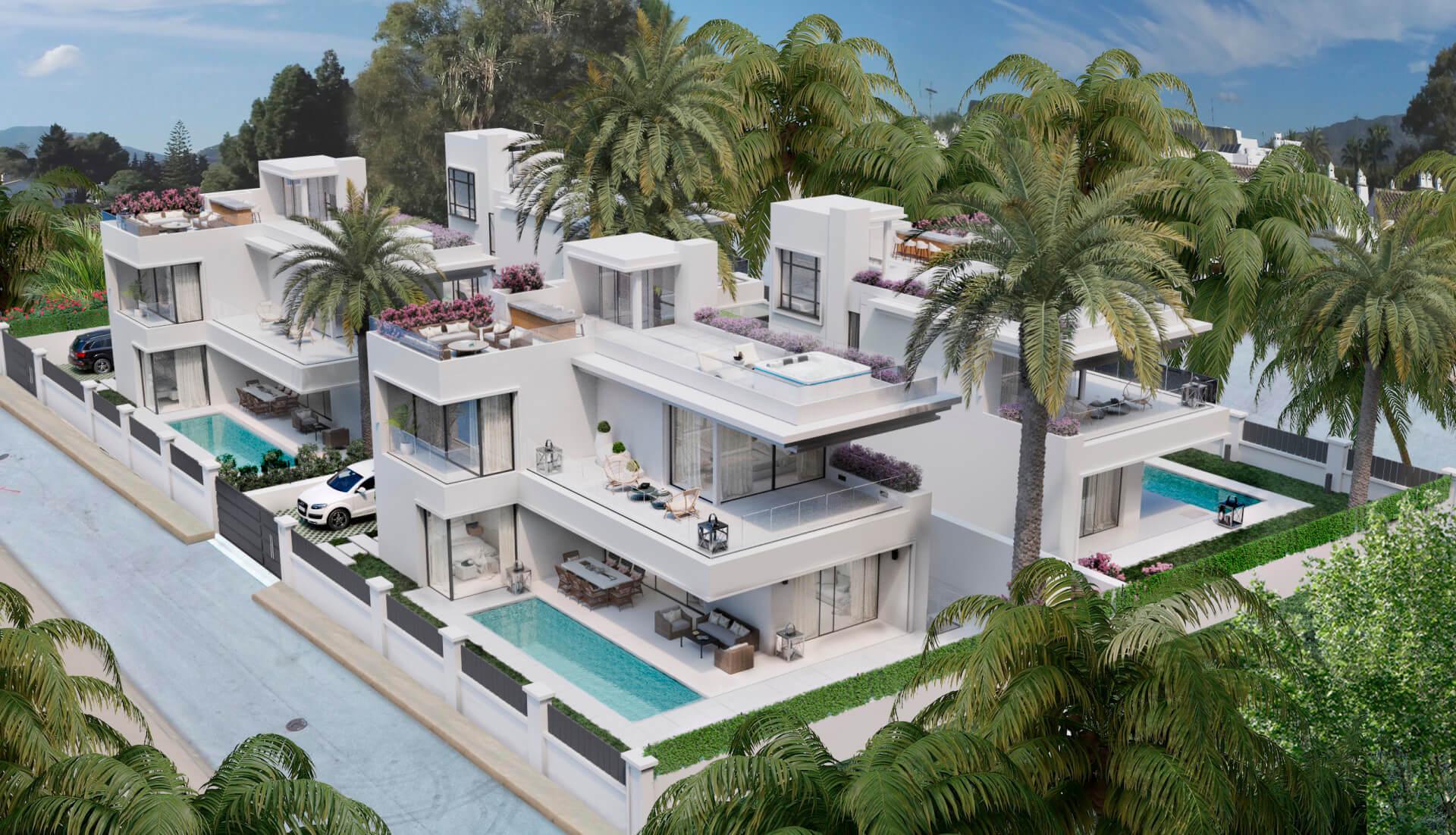 villa te koop rio verde puerto banus marbella costa del sol spanje zee wandelafstand zwembad golden mile strand