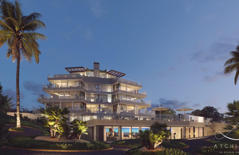 the sapphire estepona exclusief eerstelijns strand zeezicht appartement te koop costa del sol