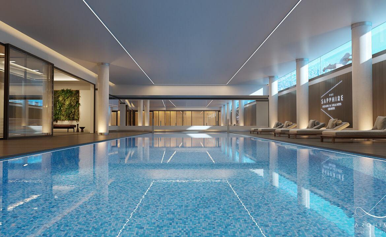 the sapphire estepona exclusief eerstelijns strand zeezicht appartement te koop costa del sol binnenzwembad