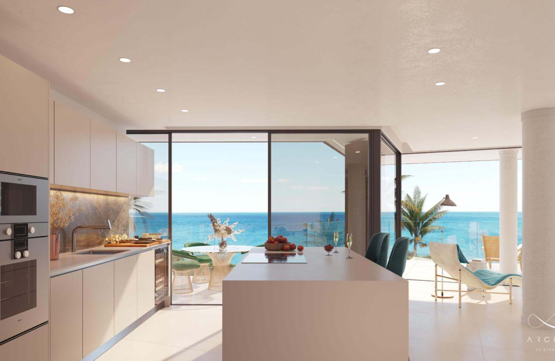 the sapphire estepona exclusief eerstelijns strand zeezicht appartement te koop costa del sol keuken