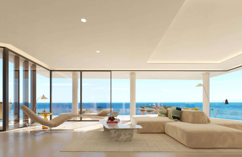 the sapphire estepona exclusief eerstelijns strand zeezicht appartement te koop costa del sol salon