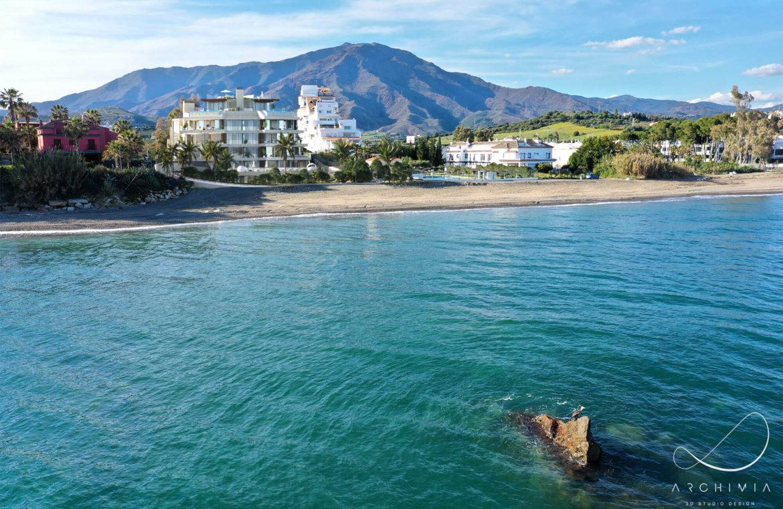the sapphire estepona exclusief eerstelijns strand zeezicht appartement te koop costa del sol zee