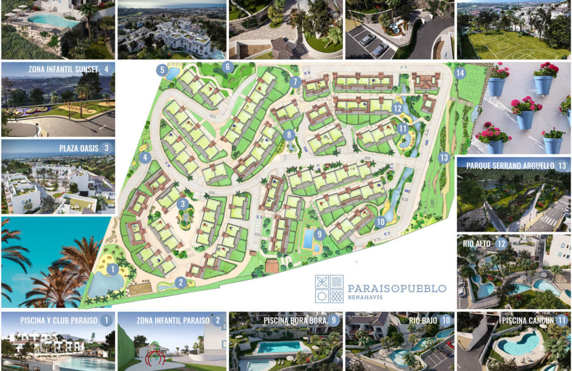 paraiso pueblo benahavis new golden mile marbella estepona vernieuwde appartementen te koop resort concierge zee golf complex