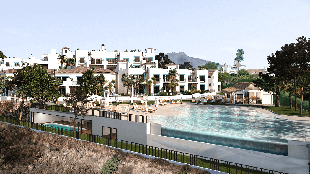 paraiso pueblo benahavis new golden mile marbella estepona vernieuwde appartementen te koop resort concierge zee golf gym