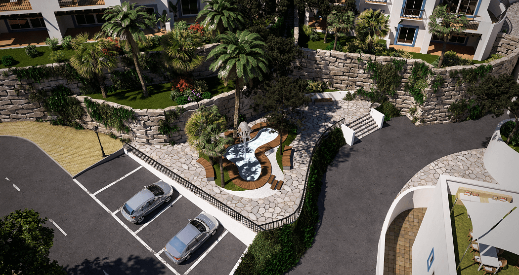 paraiso pueblo benahavis new golden mile marbella estepona vernieuwde appartementen te koop resort concierge zee golf parking