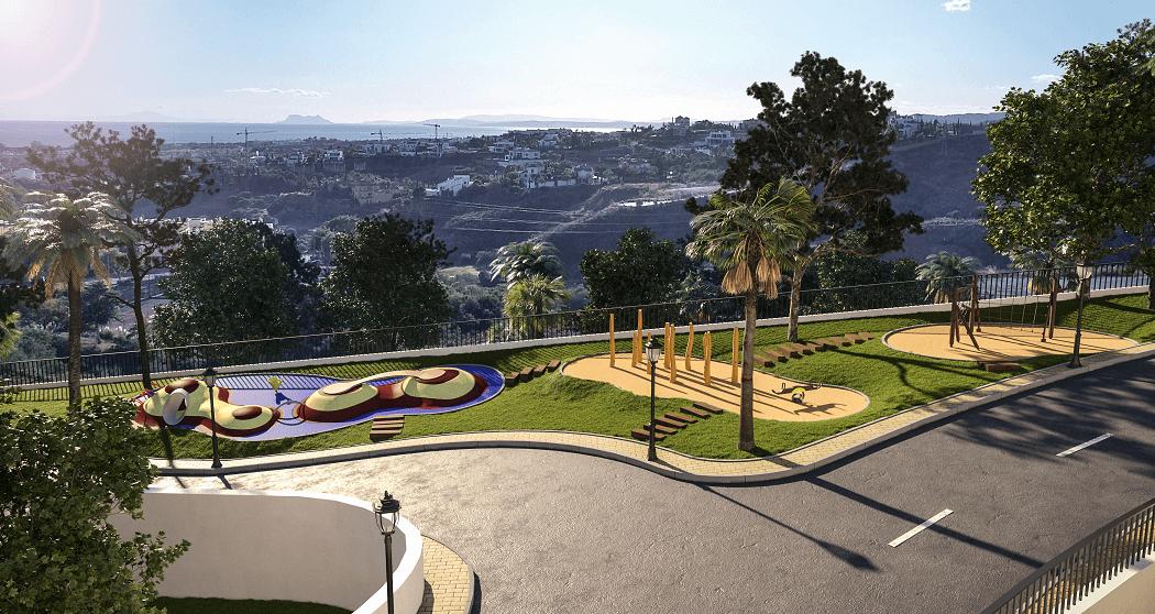 paraiso pueblo benahavis new golden mile marbella estepona vernieuwde appartementen te koop resort concierge zee golf speeltuin