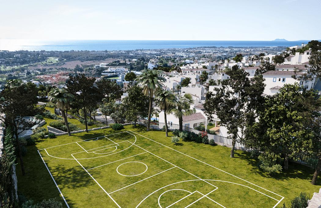 paraiso pueblo benahavis new golden mile marbella estepona vernieuwde appartementen te koop resort concierge zee golf sportveld