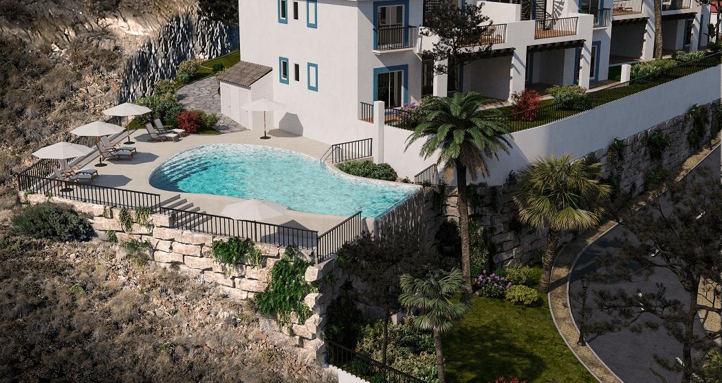paraiso pueblo benahavis new golden mile marbella estepona vernieuwde appartementen te koop resort concierge zee golf zwembad bali