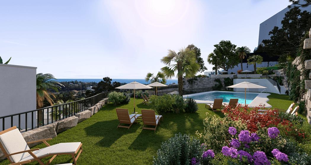 paraiso pueblo benahavis new golden mile marbella estepona vernieuwde appartementen te koop resort concierge zee golf zwembad bora bora