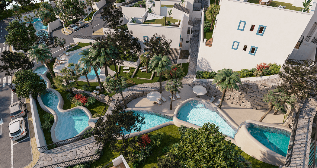 paraiso pueblo benahavis new golden mile marbella estepona vernieuwde appartementen te koop resort concierge zee golf zwembaden