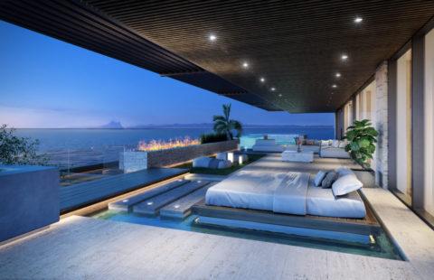 Ikkil Bay: kleinschalig uniek luxe eerstelijns strand complex in Estepona
