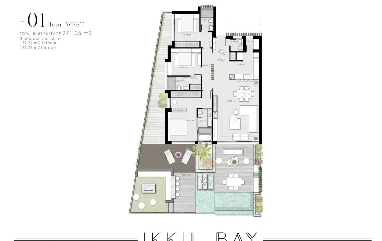 ikkil bay estepona costa del sol eerstelijns strand luxe appartement te koop zeezicht kleinschalig grondplan 1