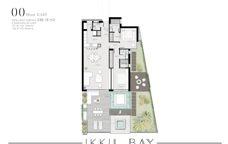 ikkil bay estepona costa del sol eerstelijns strand luxe appartement te koop zeezicht kleinschalig grondplan 3