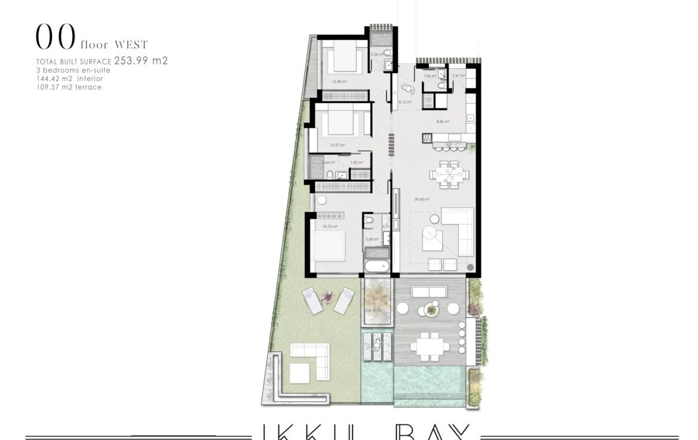 ikkil bay estepona costa del sol eerstelijns strand luxe appartement te koop zeezicht kleinschalig grondplan 4