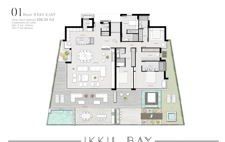 ikkil bay estepona costa del sol eerstelijns strand luxe appartement te koop zeezicht kleinschalig grondplan 5