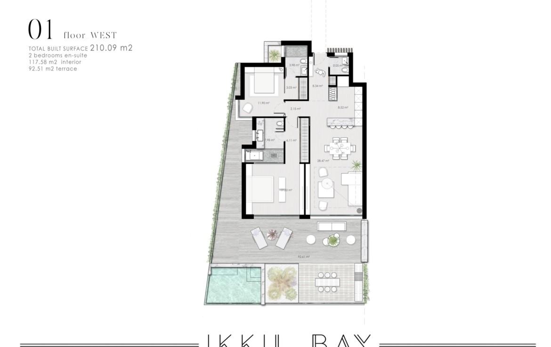 ikkil bay estepona costa del sol eerstelijns strand luxe appartement te koop zeezicht kleinschalig grondplan 6
