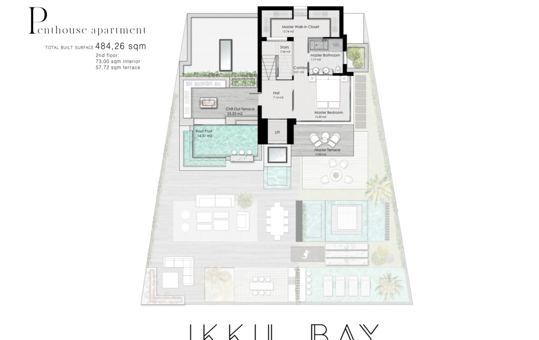 ikkil bay estepona costa del sol eerstelijns strand luxe appartement te koop zeezicht kleinschalig grondplan penthouse duplex