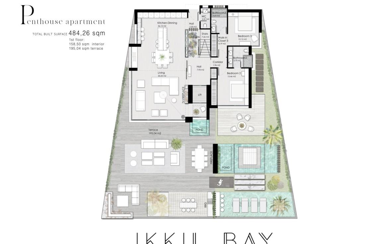 ikkil bay estepona costa del sol eerstelijns strand luxe appartement te koop zeezicht kleinschalig grondplan penthouse