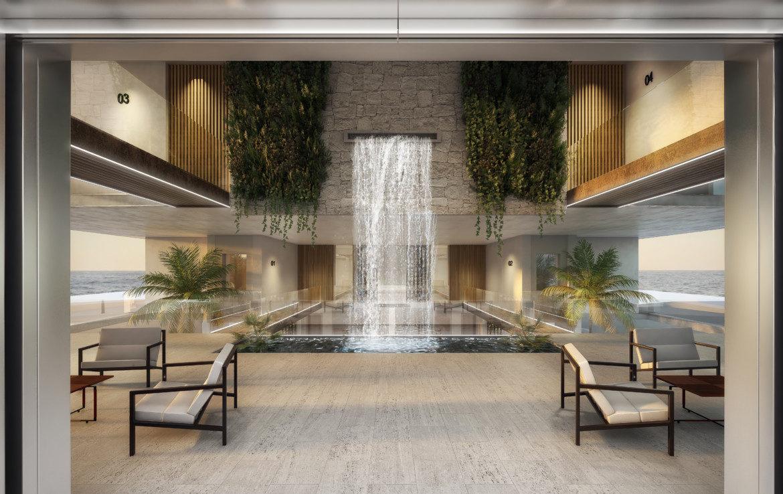 ikkil bay estepona costa del sol eerstelijns strand luxe appartement te koop zeezicht kleinschalig lounge