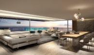 ikkil bay estepona costa del sol eerstelijns strand luxe appartement te koop zeezicht kleinschalig salon