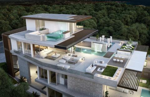 Ikkil Bay: uniek luxe eerstelijns strand duplex penthouse in Estepona