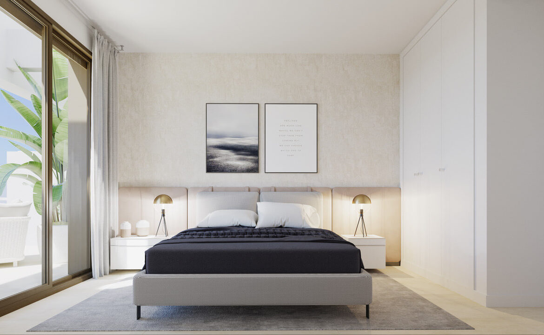 symphony suites cancelada estepona costa del sol spanje appartement nieuwbouw kopen modern zeezicht golf strand bed