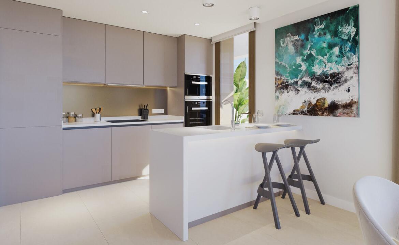 symphony suites cancelada estepona costa del sol spanje appartement nieuwbouw kopen modern zeezicht golf strand keuken
