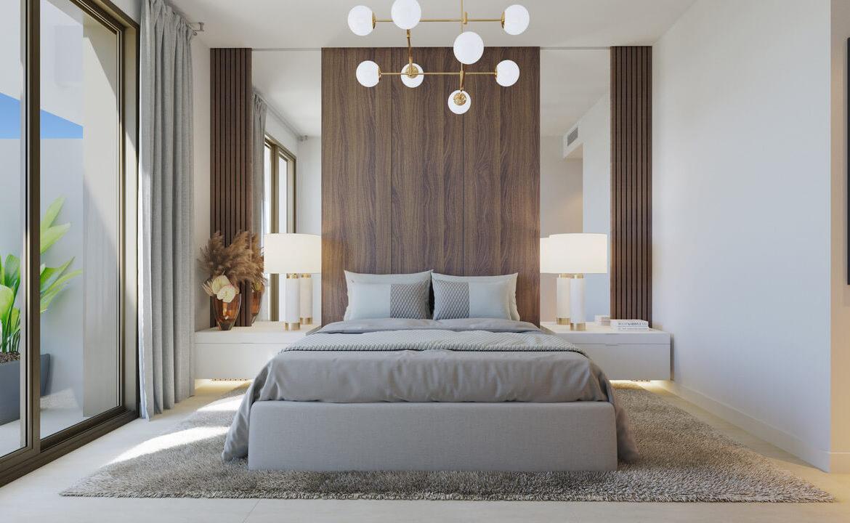symphony suites cancelada estepona costa del sol spanje appartement nieuwbouw kopen modern zeezicht golf strand slaapkamer