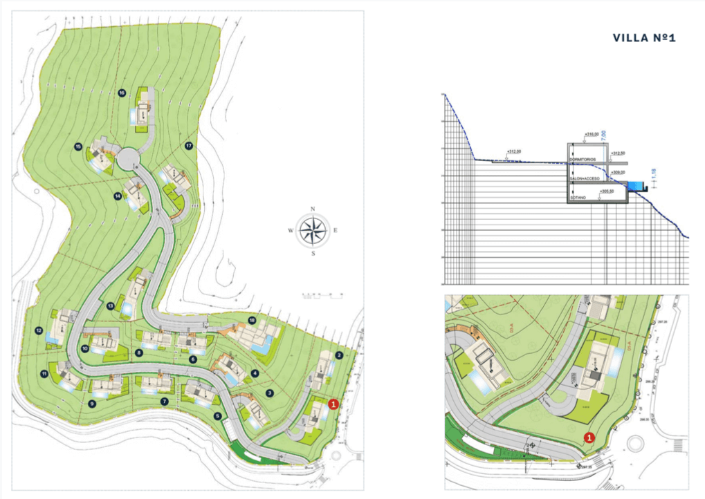 vista lago residences marbella luxe villa grondplan masterplan