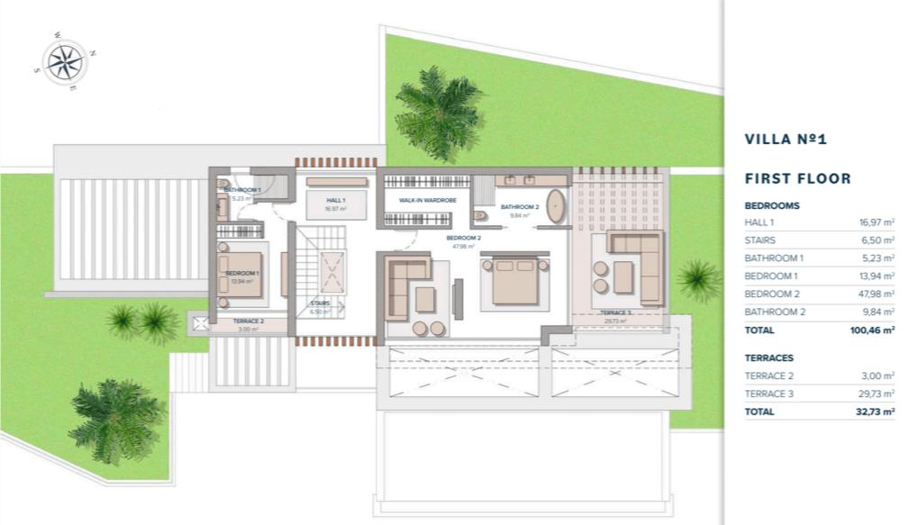 vista lago residences marbella luxe villa grondplan verdieping