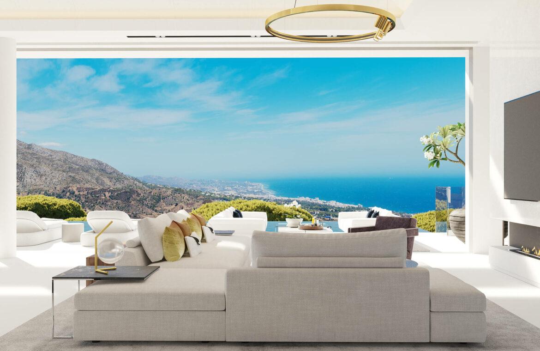 vista lago residences real la quinta nueva andalucia marbella costa del sol spanje villa kopen zeezicht nieuwbouw salon