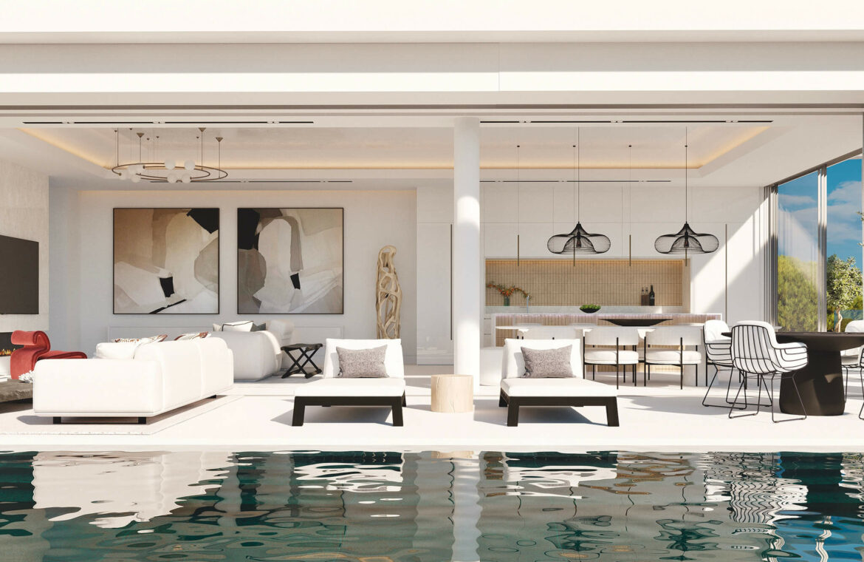 vista lago residences real la quinta nueva andalucia marbella costa del sol spanje villa kopen zeezicht nieuwbouw terras