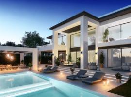 marein banus cortijo blanco marbella costa del sol spanje nieuwbouw villa wandelafstand strand zeezicht zwembad