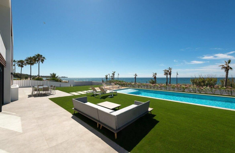 villa imare new golden mile estepona costa del sol spanje eerstelijns zee strand nieuwbouw villa grondplan lounge