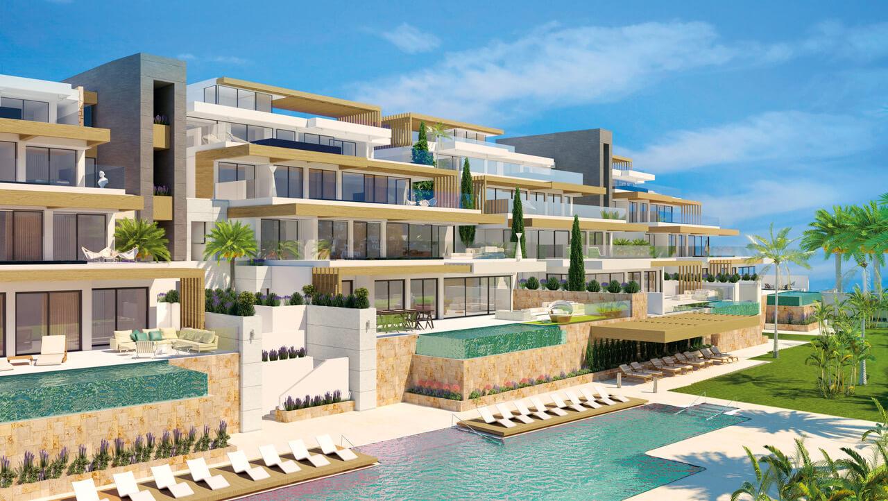 infinity mirador del paraiso benahavis nieuwbouw appartement te koop resort gym zwembad zee costa del sol golf complex