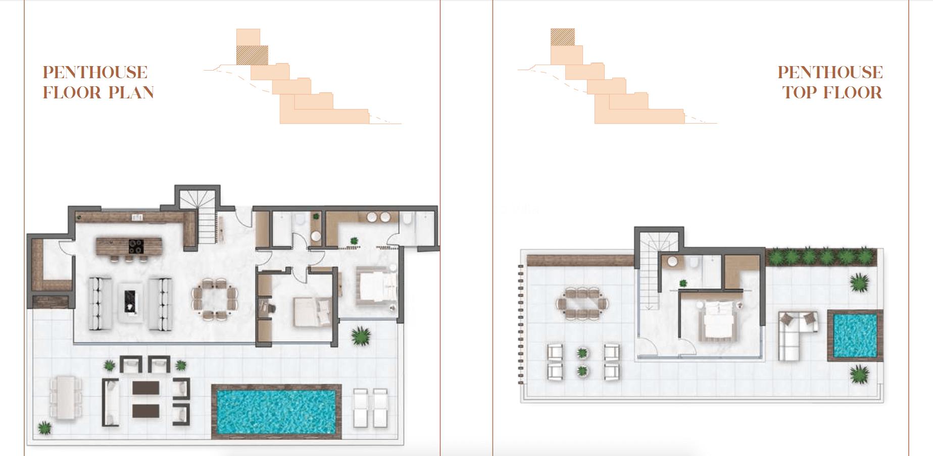 infinity mirador del paraiso benahavis nieuwbouw appartement te koop resort gym zwembad zee costa del sol golf grondplan penthouse