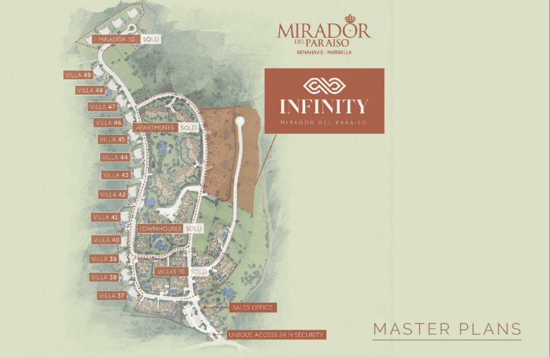 infinity mirador del paraiso benahavis nieuwbouw appartement te koop resort gym zwembad zee costa del sol golf masterplan