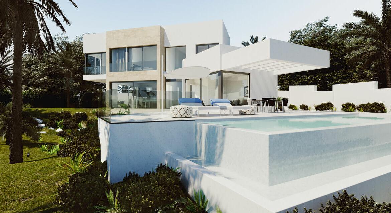 village mirador del paraiso benahavis nieuwbouw villa te koop resort zwembad zee costa del sol golf 45 tuin