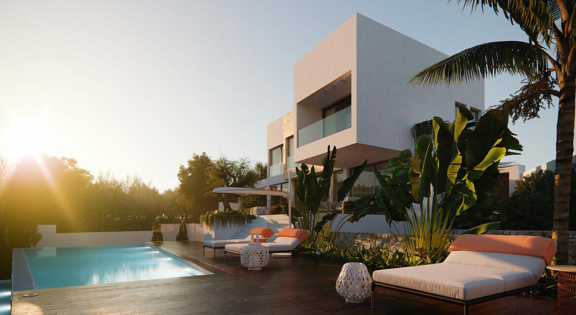 village mirador del paraiso benahavis nieuwbouw villa te koop resort zwembad zee costa del sol golf 48 modern