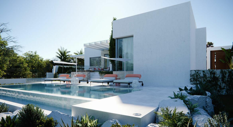 village mirador del paraiso benahavis nieuwbouw villa te koop resort zwembad zee costa del sol golf 49 tuin
