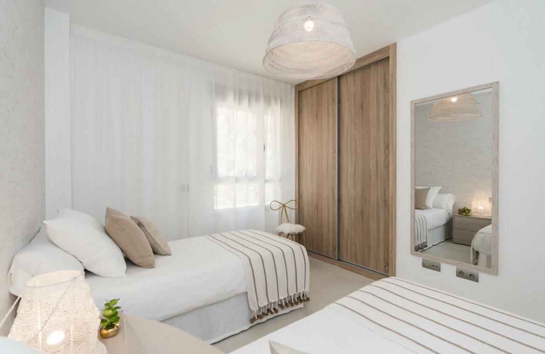 Harmony nieuwbouw appartementen la cala golf mijas costa del sol spanje zeezicht modern bed